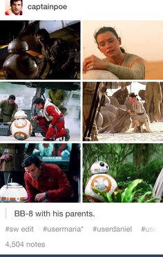 Rey and Poe are BB-8's parents don't fight me on this.