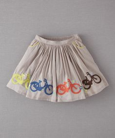 Dove Bicycles Skirt by Mini Boden