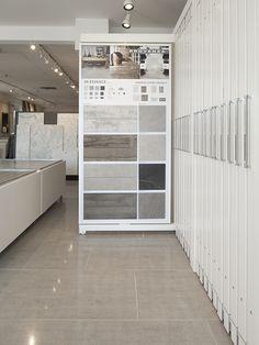 Stone Source - East Hampton Showroom Design, Tile Showroom, Office Interior Design, Office Interiors, Showroom Ideas, Bar Design, Design Studio, Display Design, Tile Design