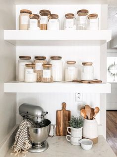 Minimalist Pantry Labels Personalization Available Durable Water & Oil Resistant Square or Round fits Mason Jars Kitchen Küchen Design, Home Design, Label Design, Design Table, Design Ideas, Design Layouts, Smart Design, Home Decor Kitchen, Home Kitchens