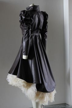 Steampunk Jacket Bolero Leather Gothic Tulle Wedding Bridal - Vest Bolero Tulle Skirt - Full 3 piece set - SPECIAL ETSY PRICE