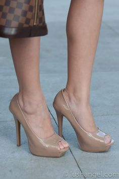 Nude pumps - lengthens the legs. Love love love!