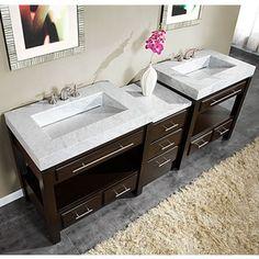 Photo Album Website Shop for Silkroad Exclusive inch Carrara White Marble Stone Countertop Bathroom Vanity Get