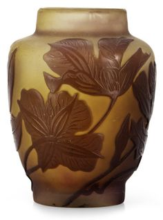 AN EMILE GALLÉ ART NOUVEAU CAMEO GLASS VASE, NANCY, FRANCE. More @ FOSTERGINGER At Pinterest