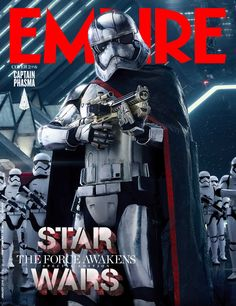 Captain Phasma Empire Cover for Star Wars: Episode VII - The Force Awakens Empire, Black Widow, Star Wars Holonet, Gwendolyn Christie, Starwars, Dc Comics, Star Wars Personajes, Fritz Lang, Episode Vii