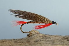 A few from Ora Smith - Variations on Smiths tiny casting streamers - Global FlyFisher RED DEMON (variant)