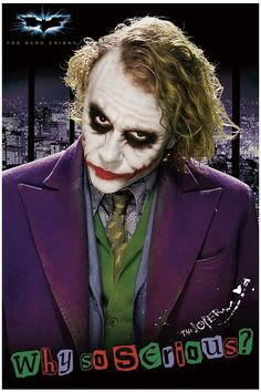 The Joker, Batman - The Dark Knight Poster Le Joker Batman, Harley Quinn Et Le Joker, Batman Cat, Poison Ivy Batman, Batman Comic Art, Gotham Batman, Batman Robin, Batman The Dark Knight, The Dark Knight Poster