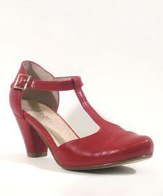 Look at this #zulilyfind! Red Marlo D'Orsay by Chelsea Crew #zulilyfinds