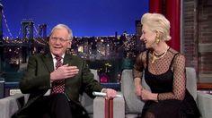 Dame Helen Mirren visits David Letterman