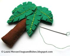 Bugs and Fishes by Lupin: How To: Make a Mini Felt Tropical Tree