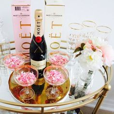 {CONFETTI + BUBBLY} Perfect combo to celebrate the weekend!  LOVE this bar cart set-up by @pinkthetown with our {Pretty in Pink} CONFETTI ✨ SHOP our PARTY Confetti ~ LINK in bio!