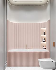 French Home Decor .French Home Decor Modern Bathroom, Small Bathroom, Blush Bathroom, Bathroom Toilets, Bathroom Cleaning, Bathroom Inspiration, Interior Design Inspiration, Interior Ideas, Design Ideas