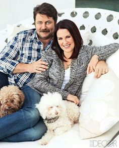 Nick Offerman and Meghan Mullally | http://www.elledecor.com/celebrity-style/celebrity-homes/news/a4011/nick-offerman-megan-mullally-house/