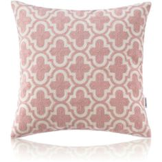 Nordic Modern Stereo Embroidery Tile Pattern Pink Pillow Cover Sof... (¥3,055) ❤ liked on Polyvore featuring home, home decor, throw pillows, cotton/linen pillows, home textiles, throws & pillows, pink home decor, embroidered throw pillows, pink toss pillows and pink throw pillows