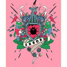 Vector illustration of the flag design i made for Flagz by Krüw exhibition. #wearekruw #illustration #poster #digitalart #artwork #error #symbol #design #juxtapoz #hifructose #picame #brutmagazine #vector #vectorart #lowbrow