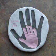 Salt Dough ~ Children and parent hand prints together