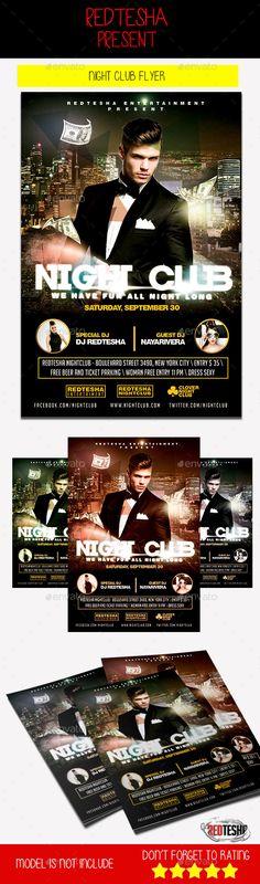 Saturday Night Club Flyer WwwActiveinkmediaCom  Night Club