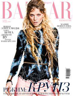 Harper's Bazaar Kazakhstan January 2015   Masha Novoselova Rassam by Sy-Delorme #Covers2015