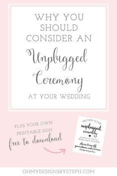 Wedding planning? Consider having an unplugged ceremony! Get your free unplugged…