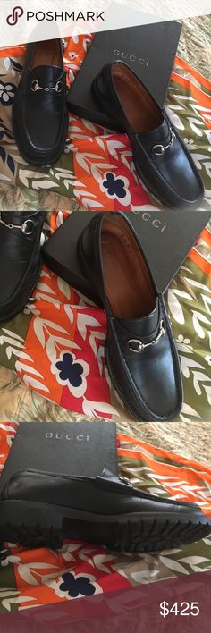 Gucci loafers Gucci black horse bit loafers worn few times Gucci Shoes Flats & Loafers