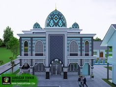 Mosque Architecture, Islamic Patterns, Beautiful Mosques, Islamic Images, Taj Mahal, House Plans, Around The Worlds, Floor Plans, Exterior