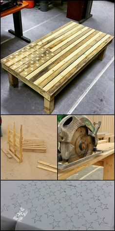 American flag pallet coffee table - Wood Working Four