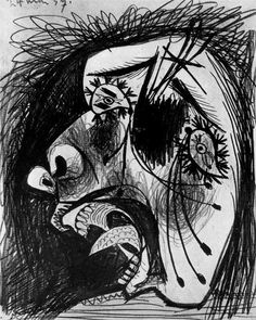 Head of crying woman - Pablo Picasso -