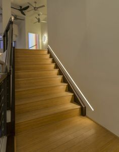 Reveal 2.5W 24VDC Plaster In LED System | Pure Lighting at Lightology. Love how this lights up the stairs! However, you'd really have to keep your baseboards clean if you had this!