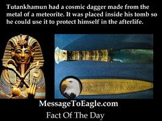 Tutankhamun Had An Ancient Dagger From Outer Space