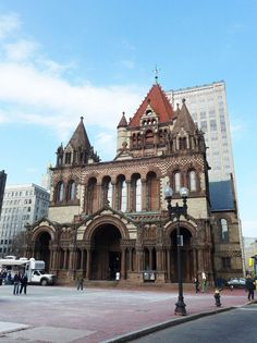 Trinity Church. Ranked as one of America's most significant architectural landmarks, designed by Henry Hobson Richardson, 1877. Less than a 10 minute walk from the BAC. #Boston