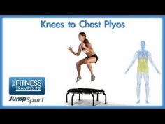 JumpSport Fitness Trampoline Workouts - Knees to Chest Plyos