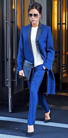 You can work a color tuxedo inspired coat into your look day or night.
