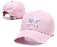 Men s   Women s Adidas The Originals Tre-Foil Logo Curved Dad Hat - Pink    White bc82ddc4c94