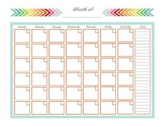 FREE PRINTABLE. Blank monthly calendar. Be sure to visit my blog to grab the other FREE printables and join me in making a Home Management binder.