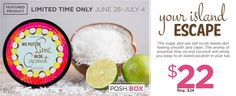 Awesome... This Weeks Special from Perfectly Posh  We Put De Lime in De Coconut Body Scrub | Perfectly Posh Smooth your cares away, island style! We Put De Lime in De Coconut to clean and excite your skin. Sugar and sea salt scrub away dry skin and imperfections while lime essential oil cleanses and treats dark spots and blemishes. It's an island vacation in a tub! (Palm trees not included.)   ☆ Thank you all for passing my things around and sharing ☆…