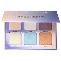 Shop Anastasia Beverly Hills' Aurora Glow Kit at Sephora. It features six metallic powder highlighters for intense radiance.