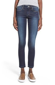 Articles of Society Articles of Society 'Carly' Frayed Hem Ankle Skinny Jeans (Tourmaline) available at #Nordstrom