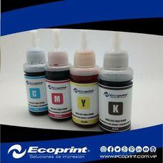 Tintas de calidad premium para sistemas de tinta continuo, 70 ml por color. #ecoprint #cartuchos #color #negro #impresora #tinta #tóner #rendimiento #imagen #calidad #economía #ecología #tecnología #compatible #genérico #impresión #venezuela  #islamargarita #islademargarita