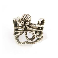 European and American Ancient Style Personality Octopus Ring $9.9