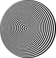 Look at Op Art and Bridget Riley.Optical illusions can work in a variety of ways, and have many classifications. To simplify, illusions can work because of how eyes and vision. Op Art, Illusion Kunst, Illusion Art, Poster Design, Graphic Design, Cool Optical Illusions, Eye Illusions, Mind Tricks, Fractal Art