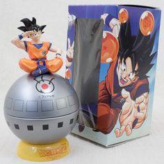 RARE! Dragon Ball Z Son Gokou Fuji Television Candy Pot Figure JAPAN ANIME MANGA