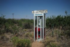 HACHITA, N.M. 6/8/2016 An abandoned phone booth near the border with Mexico.  Todd Heisler/The New York Times