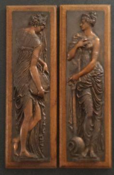 Exceptionnelle paire de bronzes anciens de Jean Goujon