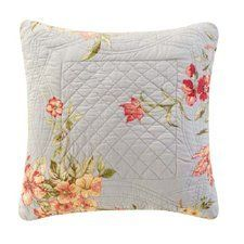 14X14 Inches   Quilted Pillow, GARDEN BLUE