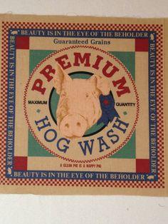 Vintage Feedsack Premium Hog Wash fabric by KoopsKountryKalico, $3.99
