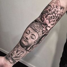 Black And Grey Buddha Tattoo Sleeve Lotus Photography with regard to proportions 1536 X 1536 Buddhist Tattoo Sleeve - There are 3 standard kinds of Japanese Sleeve Tattoos, Full Sleeve Tattoos, Tattoo Sleeve Designs, Chinese Tattoos, Buda Tattoo, Buddha Tattoo Design, Buddha Lotus Tattoo, Lotus Buddha, Hand Tattoos