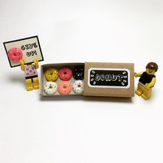 Calories don't count on the weekend!  Donuts, anyone?  Donut worry, eat more, happy Saturday!  #caloriesdontcountontheweekend #donuts #donutworry #donutgiveup #eatmore #happysaturday #saturday #happiness #donutlover #donutdelivery #weekend #saturdayfun #miniature #minifigures #l4l #legolife #lego #legostagram #matchbox #matchboxart #matchboxcard #paper #papercraft #greetingcards #craftsposure #etsyscout #makersvillage #handmade #etsy #canyi