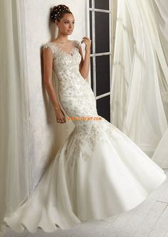 Chiffon Elegant & Luxuriös Applikation Brautkleider 2014