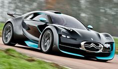 Citroen Survolt electric concept car, circuit Ecuyers, France.