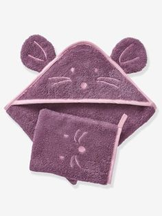 Fun and original animal bath cape with little ears on the hood. Just gorgeous for cotton towelling.Bath cape available with a choice of 4 Baby Bath Time, Kids Fashion, Coin Purse, Wallet, Sewing, Cotton, Stuff To Buy, Capes, Ideas